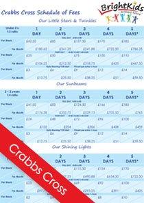BK Crabbs Cross Schedule of fees